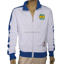 Low MOQ and Custom Long Sleeve embroidered zip-up Jackets