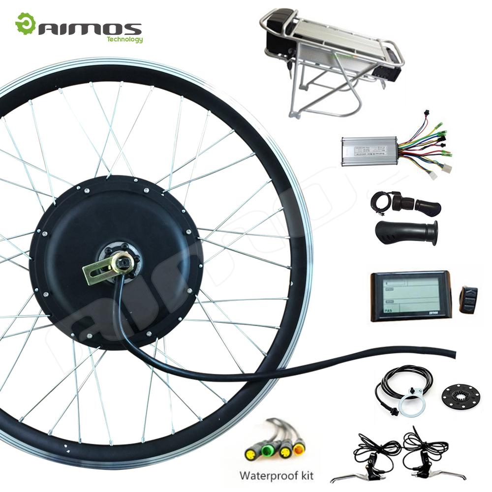 Front rear wheel electric bike kit 36v 48v 250 w 350 w for Electric bike rear hub motor