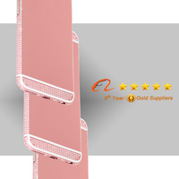 colored housing cover for iphone, pink housing with crystal houing for iphone