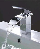 High Quality Bathroom Basin Mixer Tap Chromed Polished Waterfall Sink Faucet