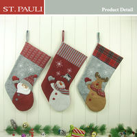 18.5inch christmas stocking gift with Santa and Reindeer