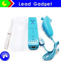 2in1 with motion plus white remote and nunchuck for wii accessories for nintendo wii console