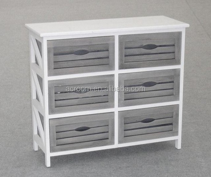 Unfinished wood furniture wholesale with many drawers solid wood bedroom cabinet