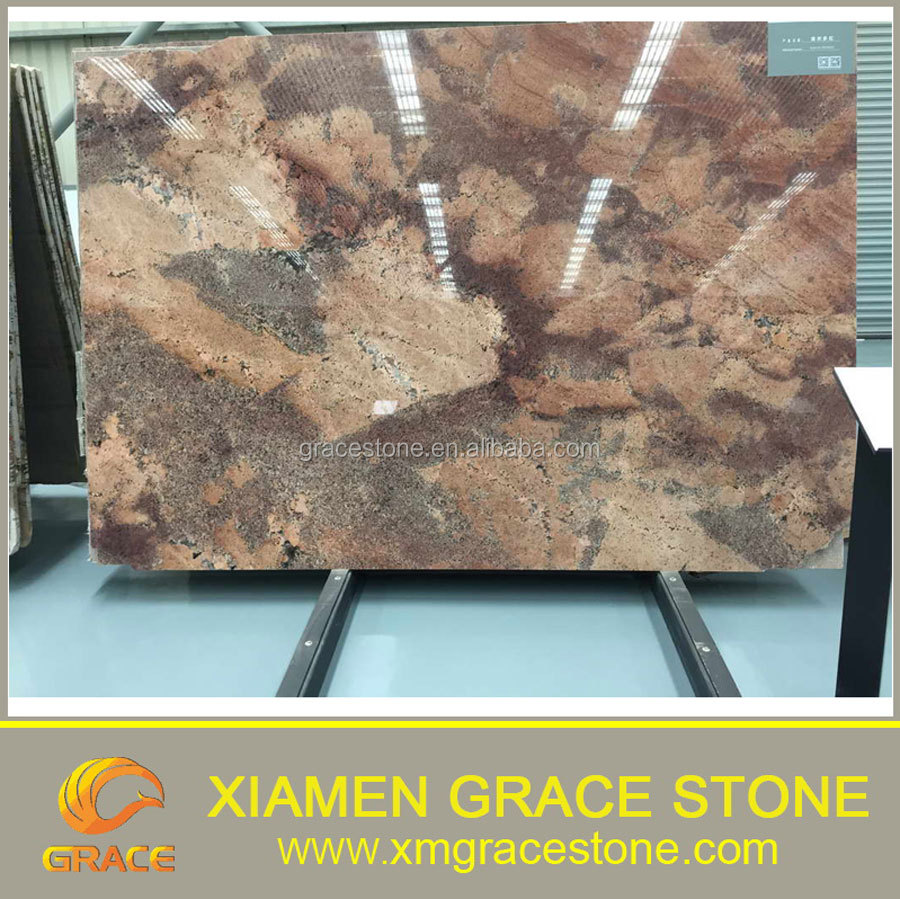 Cheap Juparana Bordeaux red Granite slab for sale