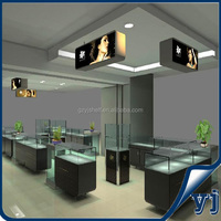 Shopping center display equipment/gold&silver glass display case/ Jewelry glass showcase