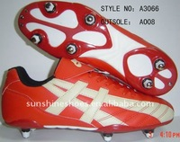 2011 new indoor Hi PU material soccer shoes