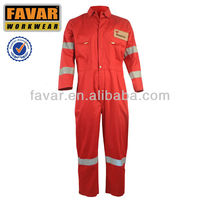 safety fire retardant oil and gas cotton coverall workwear uniform