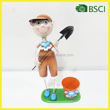 Adorable Design Garden Doll Style metal craft Colourful Decoration