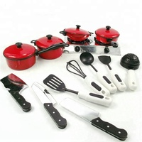 New Red kitchen toy cooking set for kids Pretend Play Toy