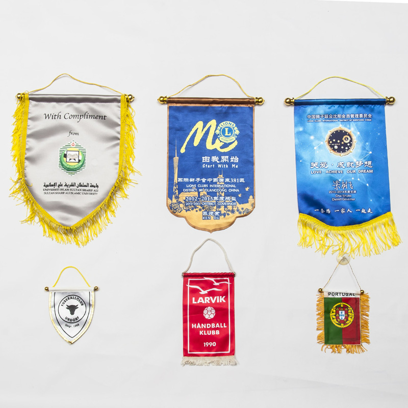 Custom Festival Decorative Indoor Triangle Pennant Flags 30x45cm Color Customized Bunting Banner