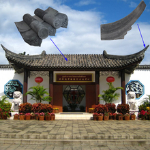 Chinese Style Garden House pavilion grey Unglazed Old Chinese Clay Roof Tiles