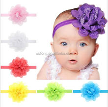 Baby Chiffon Flower Headband Girls Lace Headband Infant Knitting Hair Weave Baby Hair Accessories