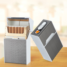 Free Shipping by DHL/FEDEX USB rechargeable lighter cigarette box_cigaret box
