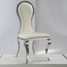 Competitive price sliver frame bent steel dining chair wholesale