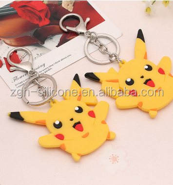 High quality custom design silicone key chain