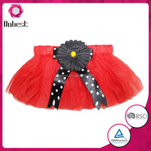 Fancy fluffy red princess tutu skirt for children flower girl dress baby girls mini skirt tutu skirt for girls