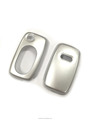 Gloss Silver Hard Plastic Keyless Remote Key Fob Flip Key Protection Case Cover For Audi A3 8L A4 B5 B6 TT MK1 A6 C5