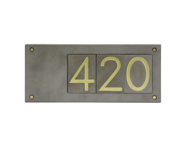 Concrete or cement modern house number house decor