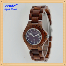 Top quality hot selling wood watches ladies wrist lady
