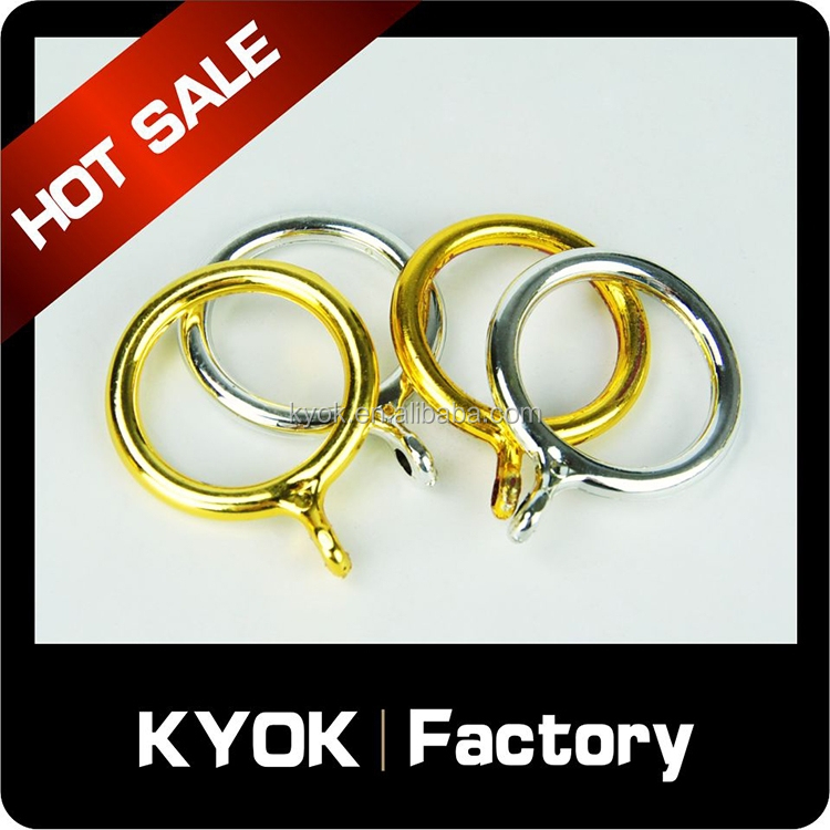 KYOK Cheap price plastomer bathroom curtain rings, home improvement window curtain pipe/rod wholesale, curtain accessories