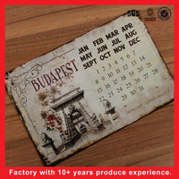 Advertising Aluminum Custom Metal Tin Calendar