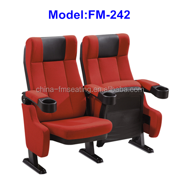 FM-242 Foshan fabric cover folding seat for cinema cheap price