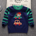 Cute Car cartoon round collar pullover cotton soft gb baby boys pink colour sweaters photos
