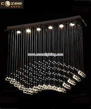 Crystal Stairs Ceiling Pendant Hanging Chandelier Lamps Lights Lighting for Home Decor CZ8111/6