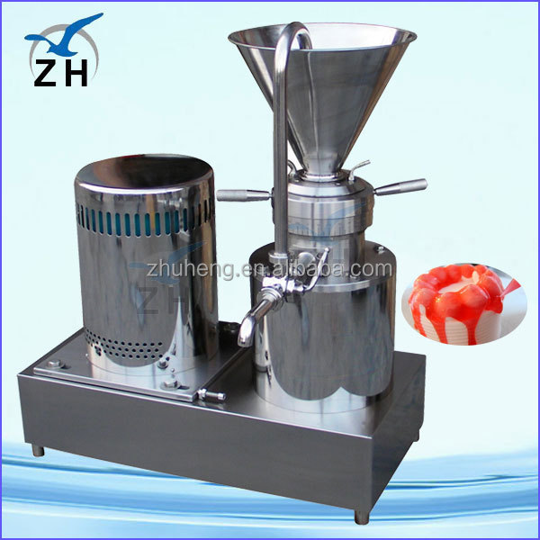 homemade nut butters pea nut grinder/pea nut colloid mill/pea nut butter making machine