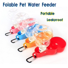 Leakproof Foldable Pet Travel Waterer Portable Dog Water Bottle Water Feeder Size Large