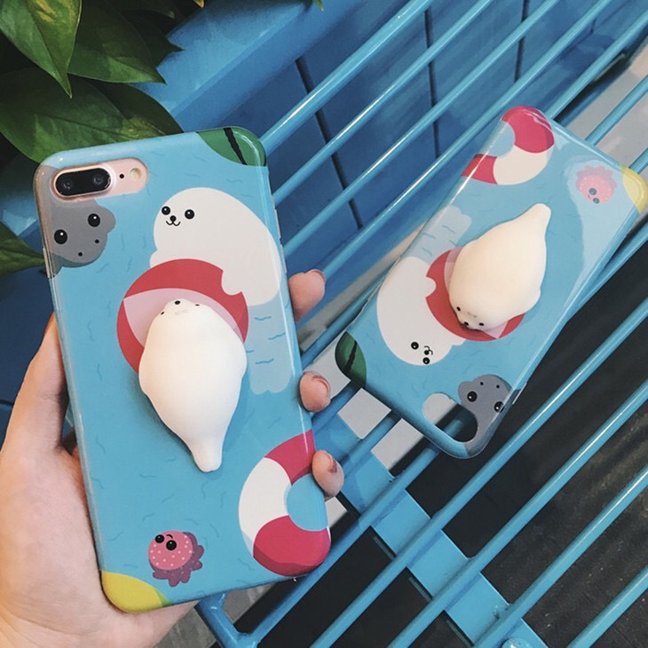 Squishy Toys Custom 3D Silicone Slow Rising Squishy Phone Case for iPhone 7
