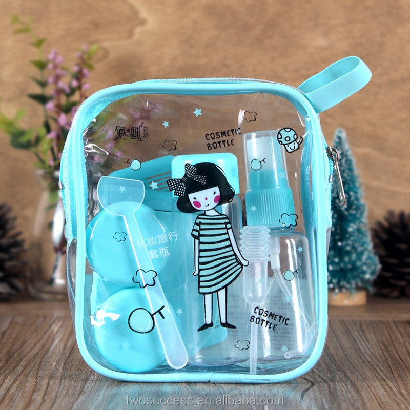 Convenient to carry Travel Cosmetics Bottle With Mirror and Comb set