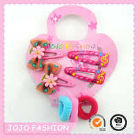 Yiwu flower tic tac plastic butterfly hair clips for girls