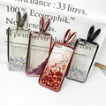 For iPhone 6 6plus iPhone 7 7plus 8 8 Plus Cute Rabbit Ear Holder Case Glitter Liquid Silicone Phone Case