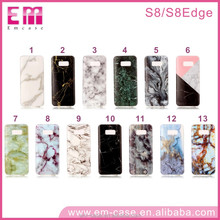Wholesale Cell Phone Case For samsung s8, Factory custom IMD marble Phone Case For samsung S8