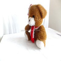 Custom 25cm sitting plush animated singing christmas toys