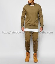 Wholesale pullover custom damage hoodie in Khaki