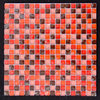 15x15mm Ice Cracked Red Broken Glass Mosaic Tile