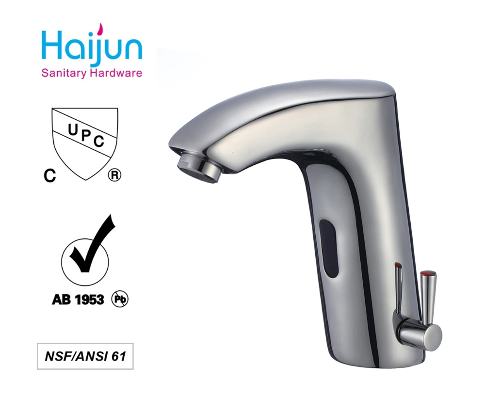 Hands free sanitary/touchless sensor tap