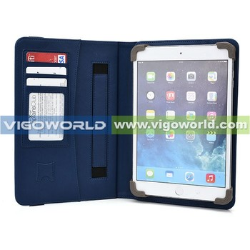 New xpand series patent products shockproof 10.1 leather tablet case with card slots and hand strap