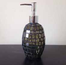 egg shape gray color mosaic glass soap dispenser lotion bottle