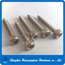 Nickel Plated Steel Allen Hex Socket Cap Head Self Tapping Wood Screws