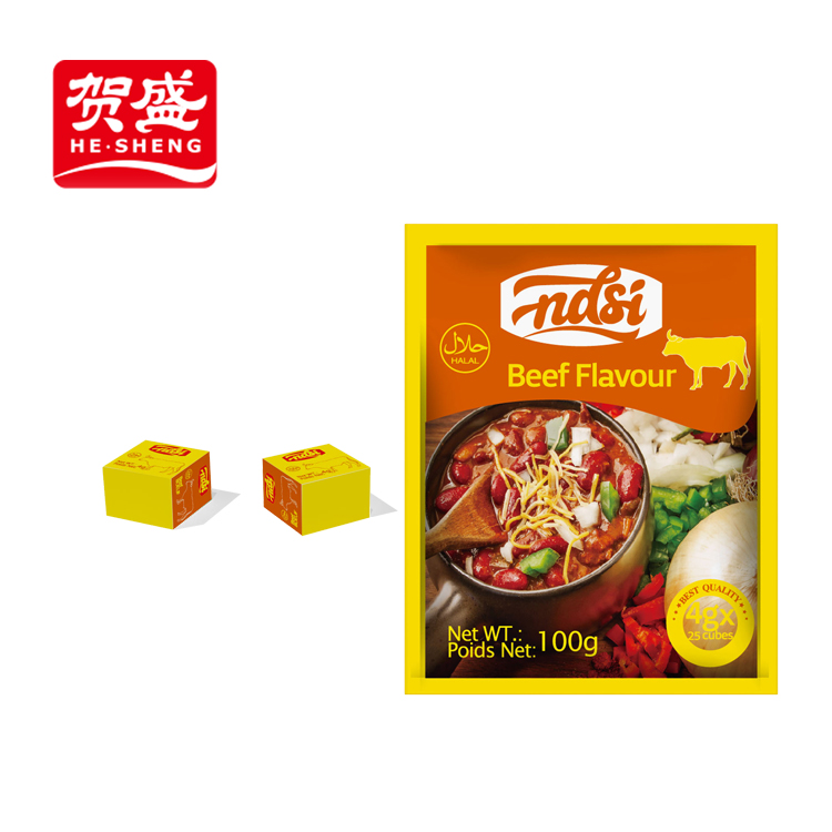 NASI 4g/cube tomato paste flavor halal beef stock cube for dish