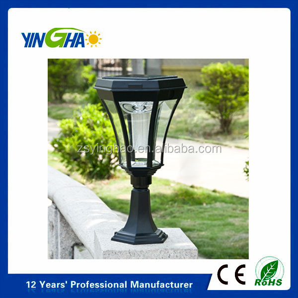 High lumen solar garden light for outdoor