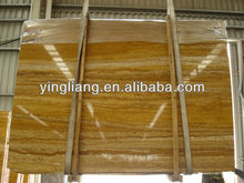 Natural turkey Wooden Skin Yellow Travertine Slab