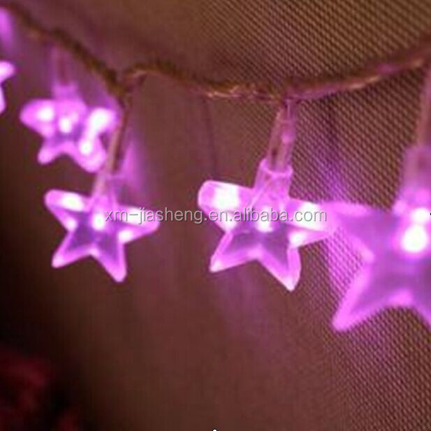 Eco-friendly acrylic star shaped decorative string garland fairy light
