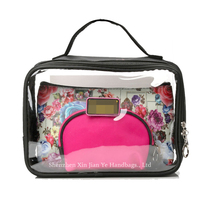 Women Sublimation Luxury Cosmetic bag Sets PVC Makeup Organizer Bag for Travel