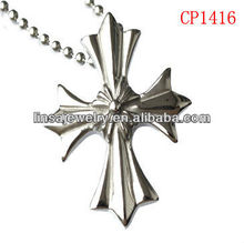 316L Stainless Steel Hammered Cross Pendant