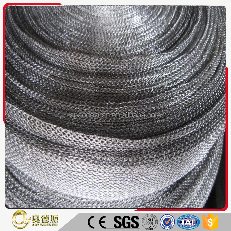 high quality stainless steel knitted wire mesh for EMI / RFI Shielding