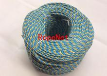 6mm strong PP Telstra rope blue,blue ,yellow